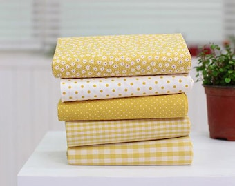 """Pastel Color Yellow Series 20s Cotton Fabric - 44""""x35"""" - 1 Yard"""
