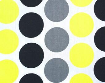 1 yard Premier Prints Fancy Black-Candy Yellow