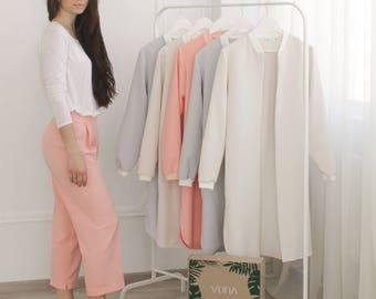Pink pants for women / pink trousers for ladies / blush womens slacks