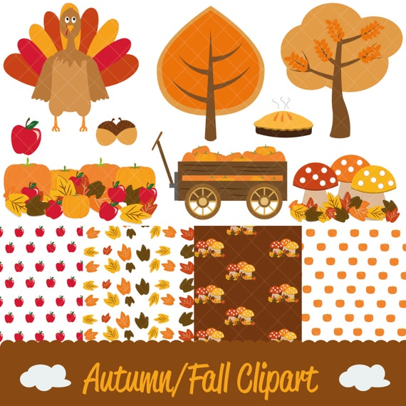 Autumn/Thanksgiving/Fall Clipart and Digital Papers