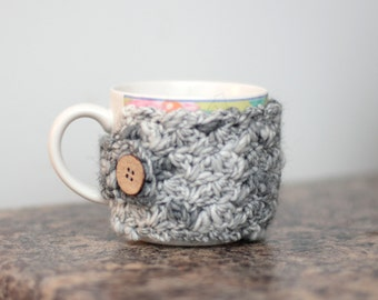 Wool Blend Coffee Cup Cozy - Crochet Mug Cozy - Reusable Cup Warmer - Gift for Her Gift for Him - Coffee Lover Gift idea