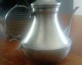 95% pewter teapot. Italy. Dedalo. Vintage.