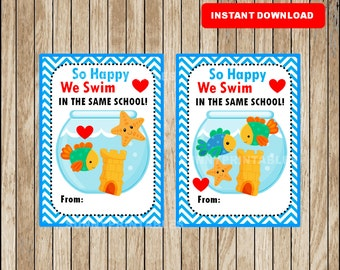 In the same school etsy for Happy fish swim school