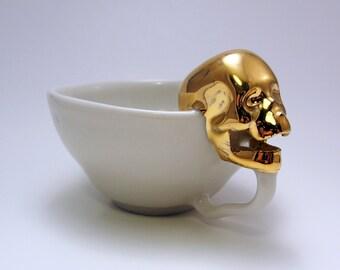 GOLDEN SKULL teacup