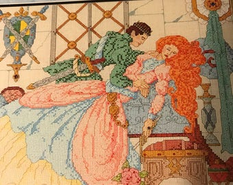 Vintage Graphworks International Age of Romance counted cross stitch Sleeping Beauty and her Prince volume 5 in collectors series pattern