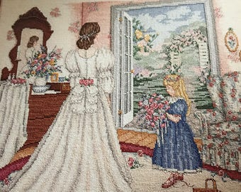 Vintage Leisure Arts Counted Cross Stitch A Time To Dream Leaflet 2347
