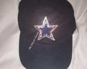 Dallas Cowboys Hat, Cowboys Hat, Bling Cowboys Hat, Bling Dallas hat, Swarovski Cowboys Hat, Dallas Cowboys gift, Cowboys gift