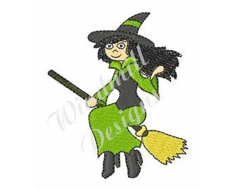 Cute Witch - machine embroidery design