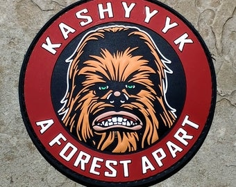 Kashyyyk A Forest Apart Chewbacca PVC Morale Patch - Star Wars Patch - Hook Velcro Backed
