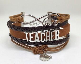 Teacher Bracelet, Teacher Jewelry, Teacher Appreciation, Teacher Gifts, Gifts for Teachers, Teacher Valentine, Teacher Gift, Elementary