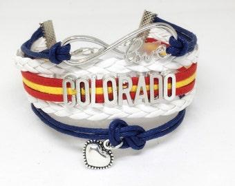 Colorado, Colorado Flag, Colorado State, Denver, Colorado State Flag, Colorado Gifts, Colorado Jewelry, Mountain Jewelry, Colorado Charm