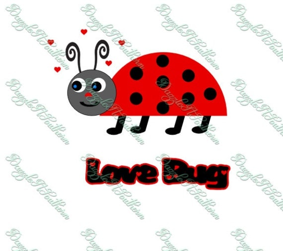 Download Happy Love Bug Ladybug Hearts Cute Tshirt Iron on Decal ...