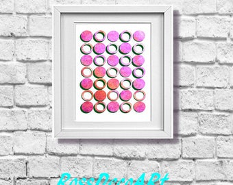 Geometric PINK Home office. Printable sheet