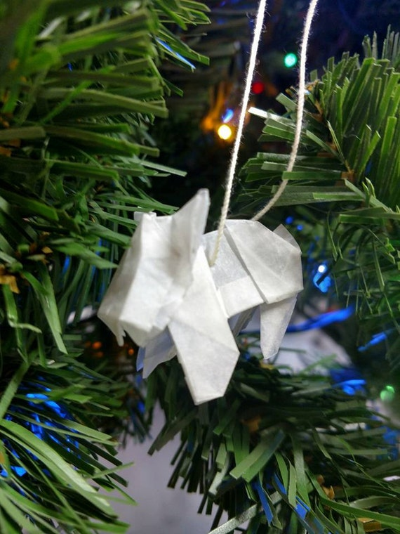 Origami Terrier // Christmas // Ornament // Rear View mirror // Accessories // Stocking Stuffer
