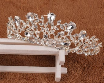 JENNA - Silver Bridal Wedding Tiara Crown