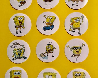 Precut SpongeBob SquarePants Characters to decorate your cupcakes, cookies or cake with.
