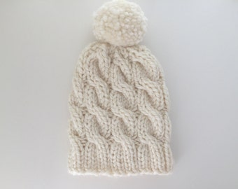 Adult Chunky Cable knit Toque