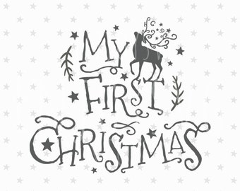 My first Christmas SVG Baby Christmas Svg file Baby First Christmas SVG file Baby Christmas svg Baby Christmas Silhouette svg Winter Svg