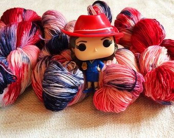 Indie Dyed Yarn, Hand Dyed Yarn, Geek Sock Yarn, Fingering Yarn, Speckled Yarn, DK Yarn, Geek Speckled Yarn