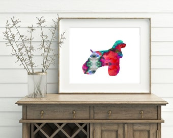 Afghan Hound Print - Dog Artwork, Afghan Hound Art, Afghan Watercolor Art, Afghan Poster, Rainbow Dog Art, Printable Afghan Art
