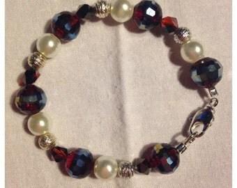Cranberry & Pearl Bracelet