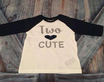 Two Cute (toddler shirt)