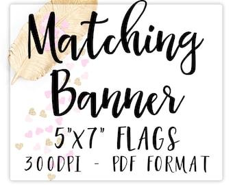 Birthday Banner, Matching Banner, Banner Printable
