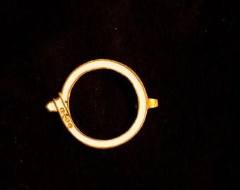 Belt - White SCA Knighthood symbol - SC-B