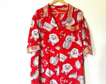 Shirt/sailor style shirt