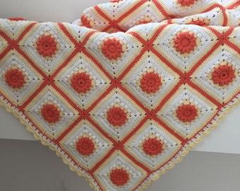Handmade Crochet Baby Blanket (85x85cm)
