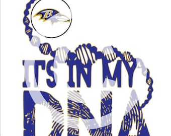 Baltimore Ravens - It's in my DNA SVG File