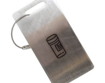 Pill Bottle Stainless Steel Luggage Tag