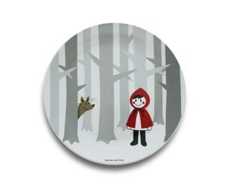 Plate - red ridding hood