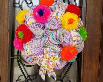 Deco Mesh Fiesta Wreath