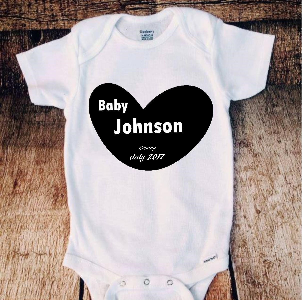 fb2c4d032a40 Coming Soon Baby Announcement Onesie Bodysuit Pregnancy