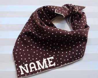 Personalized Dog Bandana - Java // Dog Bandana // Spring Dog Bandana // Printed Dog Bandana // Pet Bandana // Brown Bandana