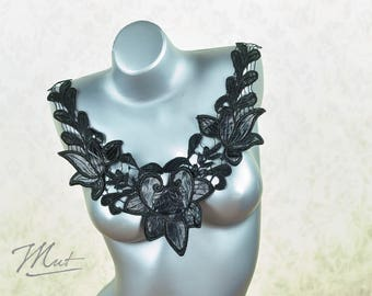 Lace insert leather - black - Nr 21