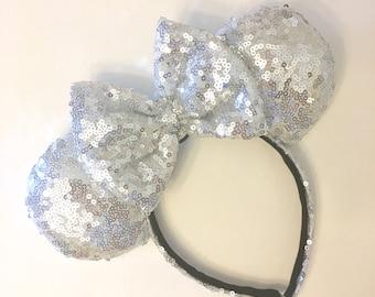 Silver Sequin Ears