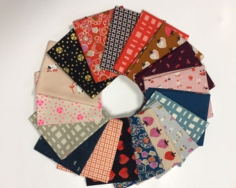 Truly Yours Fat Quarter Bundle, Complete Collection, 18 prints, Cotton and Steel Fabrics, Kim Knight, Quilting Cotton