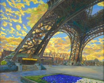 Eiffel Arcs (Fine Art Giclée Print)