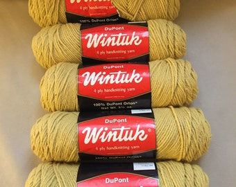 Vintage 5 Skeins Wintuk Handknitting Yarn
