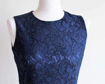 Short navy blue dress  Navy blue bridesmaid dress Navy blue cocktail dress Navy party dress Navy blue lace dress Short bridesmaid