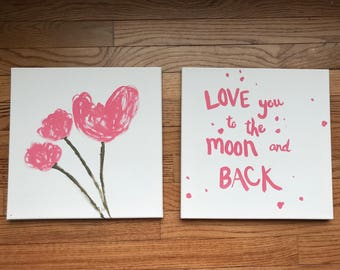 Love You To The Moon And Back Wall Art i love you to the moon and back wall art   etsy