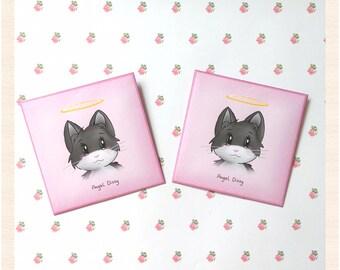 Pink envelopes / kawaii envelopes / cute envelopes / small envelopes / cat envelopes