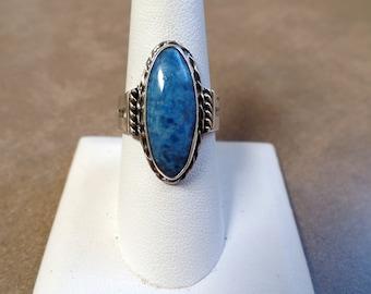 Stunning Sterling Silver Denim Lapis Ring 1148