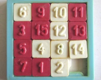 Rare Vintage Plastic Toy Puzzle with numbers 1980's