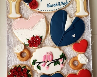 Wedding personalised gift box, Wedding bespoke cookies <3