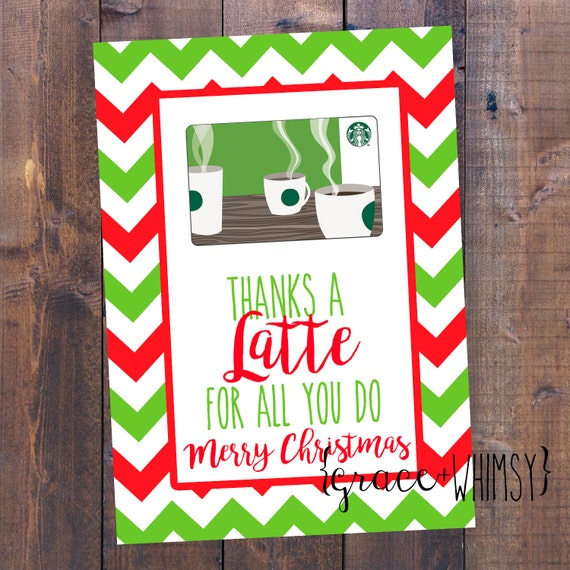 This is a picture of Persnickety Thanks a Latte Christmas Printable