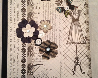 Composition Book, Altered, Fashion, Tween, Embellished, Papercraft
