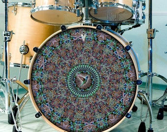 Hummingbird Drum SKIN for Snare, Bass, and Tom Drums Nature Drummer Art For Drum Kit Customization